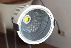 12W Deco COB LED Chrome Light