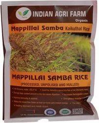 Organic Mappillai Samba Kaikuthal  Red Rice