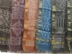 Cotton Chanderi Block Print Dupatta