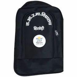 Matty Black Printed Waterproof School Bag
