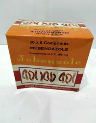 Mebendazole Tablet 100 Mg, Prescription, Packaging Type: 10 X10 Tablets