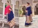 Bordered Printed Silk Saree