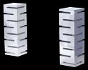 SS Tall Tower Riser Set with 6 Slabs