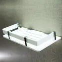 Homfa White Acrylic Bathroom Shelf, Size: 12x5 Inch