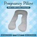 Pregnancy Pillow - Maternity Body Pillow in Cotton Jersey fabric