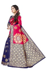 pehnava nx Multicolor Banarasi Jacquard Saree, 6.3 m (with blouse piece)