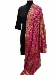 Silk Banarasi Bandhej Dupatta