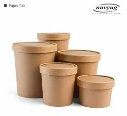 Brown Paper Food Container