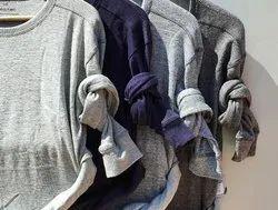 Plain Full Sleeves Cotton Round Neck Mens Winter Sweatshirts, Machine Wash, Size: M-l-xl