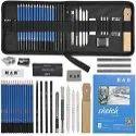 Black Wood Charcoal Pencil Set