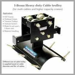 One Cable Layer Heavy Duty Festoon I-Beam Cable Trolley