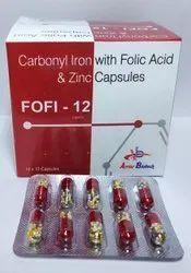 Carbonyl iron 100mg+Folic acid 500mcg+Zinc 61.8mg+Eelemental Zinc 22.5mg capsule