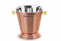 Copper Steel Hammered Ice Bucket