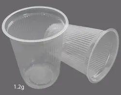 Plain 1.2gm Disposable Plastic Glass
