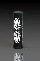 Flower Design Bollard Pipe Light