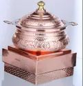 Copper Embossed Handi with Imperial Chowki Stand