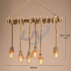 UV Modern/Contemporary Hanging Rope Lamp with 6 Bulb, For Decoration
