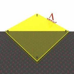 Yellow Fluorescent Acrylic Sheet