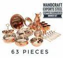 Hammered Steel Copper Dinner Set