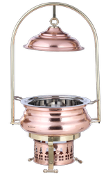 Copper Hmrd Mughal Mahal Chafing Dish