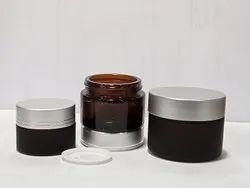 30 gm Amber Glass Cream Jars