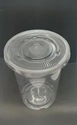 Transparent Round 350ml Pet Glass Lid, For Packaging
