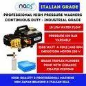 Italian Grade 150 Bar Portable Commercial Car Washer - Super Energy Saver & Continuous Duty