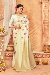 Gopin Apprel Casual Wear Woman Stylish Cotton Silk Saree, With Blouse Piece, 5.5 M (separate Blouse Piece)