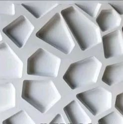 White 3d Pvc Wall Tiles, Thickness: 8 - 10 mm, Size: Medium