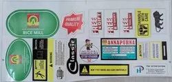 Multi Type Vinyl Label And Sticker, For Industrial, Packaging Type: Packet
