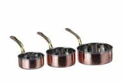 Copper Steel Mini Saucepan Portion Dishes