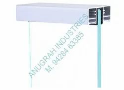 Balcony Panel Aluminum Railing 2 Side LED Pipe