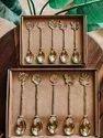 Brass Butterfly Cutlery Plain Handle Butterfly Tea Spoon