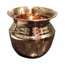 Golden Pooja Copper Kalash