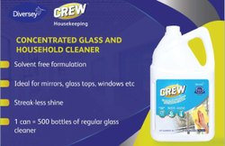 Concentrated Glass And House Hold Cleaner - Diversey Crew