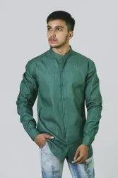 Chinese Collar Denim Shirt