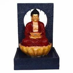 Peaceful Buddha On Lotus Fountain