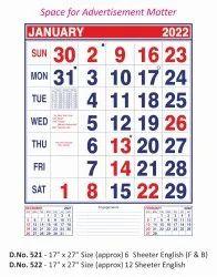Office Wall Calendar 522