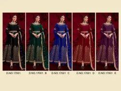 Multicolor Embroidered Designer Wedding Wear Salwar Kameez