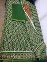 Pure Chanderi Saree with thin zari border
