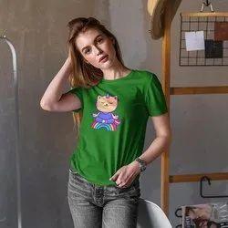 iKraft Women's Slim Fit Green T-Shirt