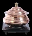 Induction Compatible Copper Embossed Hyatt Handi With Imperial Stand & Induction