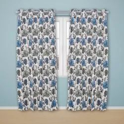 PARDAONLINE Blue Ready Made Curtain, For Door, Size: 7 Feet