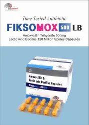 Amoxycillin 500 Mg + Lactic Acid Bacillus 120 Million Spores