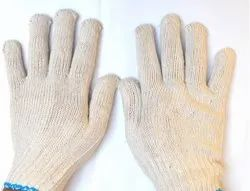 SS WW WHITE Cotton Knitted Safety Hand Gloves 35 GRAM
