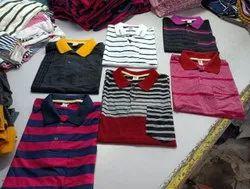 Half Sleeve Printed Men Cotton Stripes Polo T Shirt, Size: Large