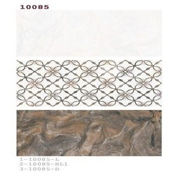 Multicolor Ceramic Designer Glossy Wall Tiles, Thickness: 10 - 12 mm, Size: 1x2 Feet