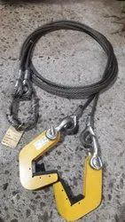 wire rope sling with pipe lifting clamp