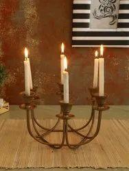 Golden Tea Light Candle Stand