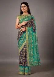 Woman Cotton Brasso Designer Saree
